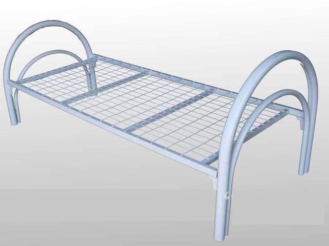 Кровать 1-но ярусная металлическая 1900х700х860; 1900х800х860; 1900х900х860