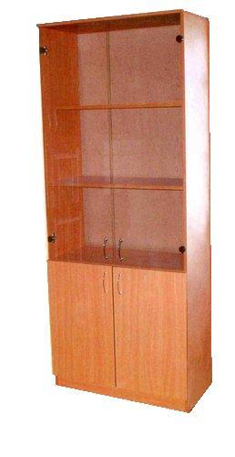 Шкаф канцелярский (ЛДСП, со стеклом) 800х400х1800; 800х400х2000