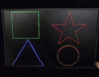 Интерактивная панель «Цветные фигуры-4»