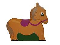 Мягкий модуль «Лошадка»