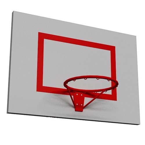 Щит баскетбольный тренировочный 900*1200 мм. (оргстекло, фанера)
