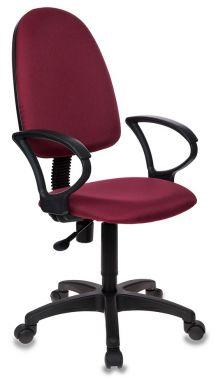 Кресло компьютерное с подлокотниками и регулировкой угла наклона спинки (газлифт, ткань, иск.кожа)
