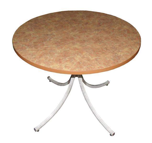 Стол 4-местный (d=950 мм., столешница Пластик 26 мм., металл.каркас с регулировкой под неровности пола)