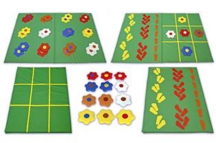 Детский игровой мат «Сенсорная полянка»