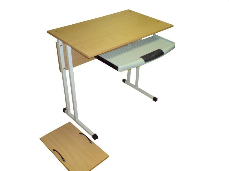 Стол компьютерный 1-местный на металлокаркасе (отдельно подставка под системный блок) 800х500х760; 1000х500х760