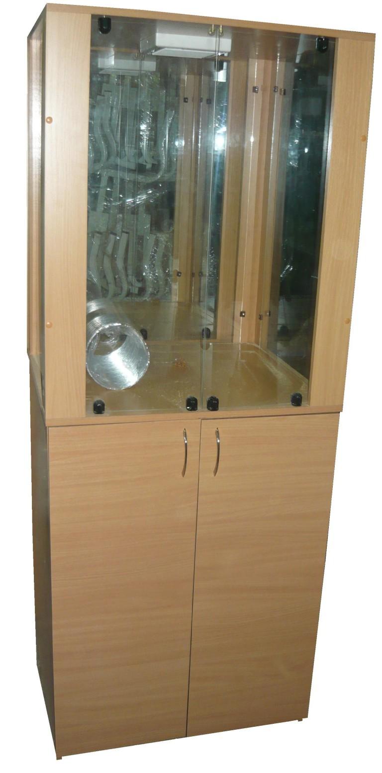 Шкаф вытяжной АКВАРИУМ для кабинета химии 600*600*1700 (ЛДСП, пластик)