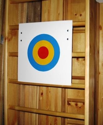 Щит для метания мяча в цель навесной на стенку гимнастическую 700*700 мм. (оргстекло, фанера)