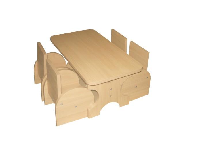 Набор кукольной мебели (ЛДСП) 550*250*300