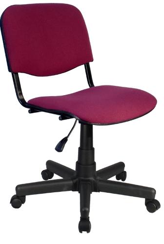 Кресло компьютерное без подлокотников (газлифт, ткань, иск.кожа)