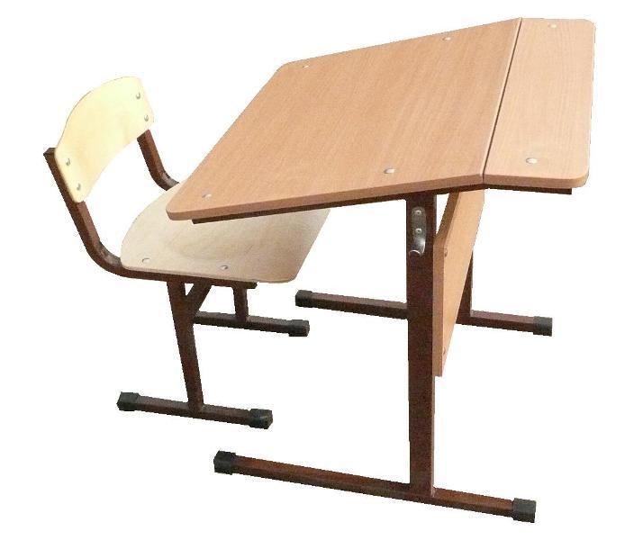 Стол 1-местный наклонный нерегулируемый 4, 5, 6 гр.роста