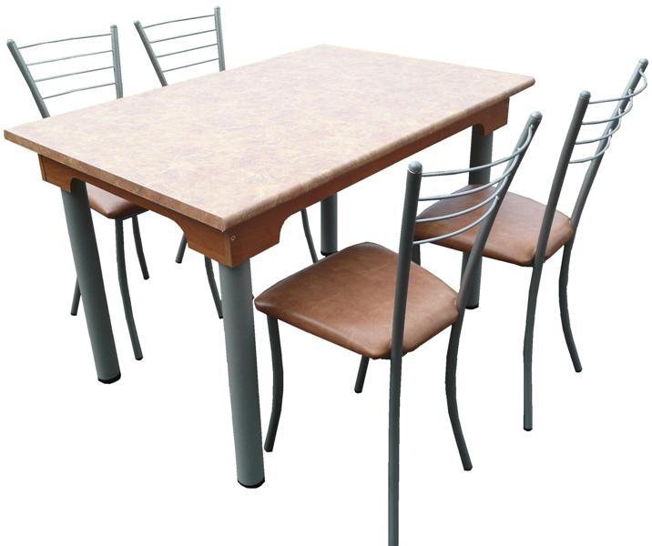Стол 6-местный (1200х800х740, столешница пластик 26 мм., круглая метал. труба d=60мм.)