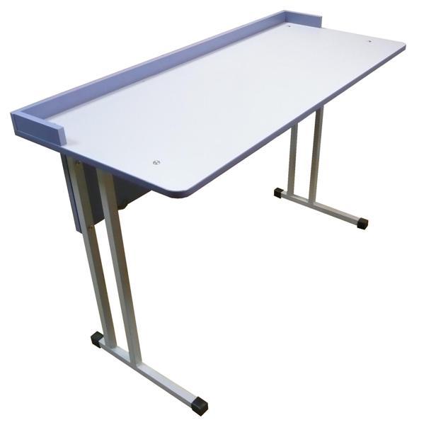 Стол 2-местный для кабинета химии, физики, биологии с бортиком 1200*500*760 (пластик)