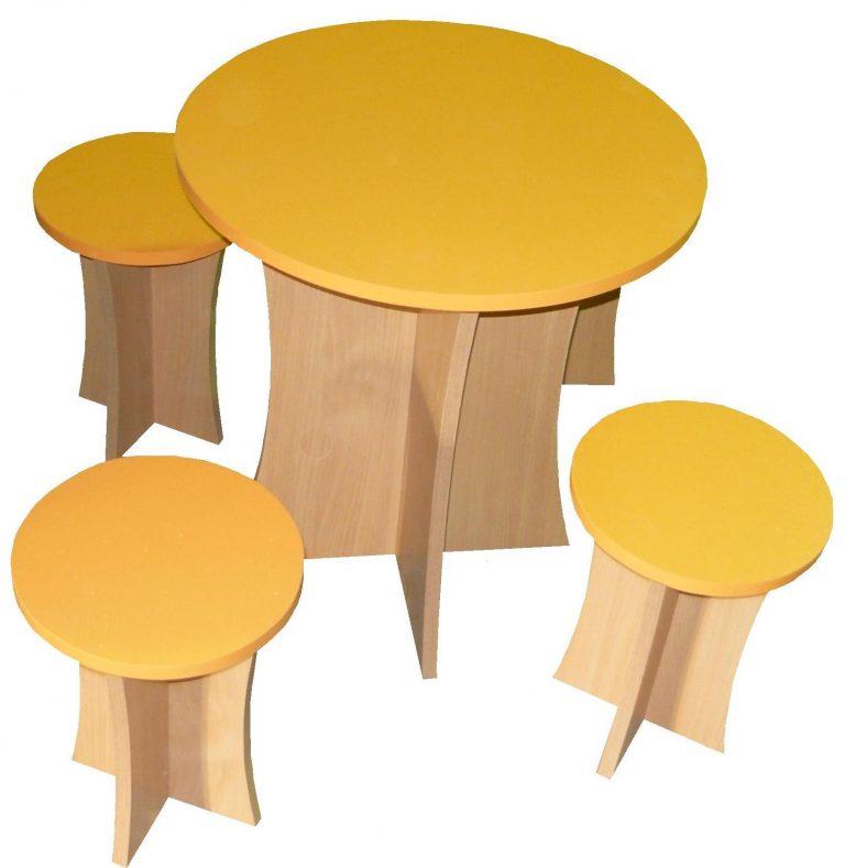 Комплект Грибок (стол + 4 табурета)