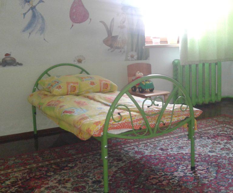 Кровать одноярусная детская на металлокаркасе 1400х650 детская  1600х700 подростковая